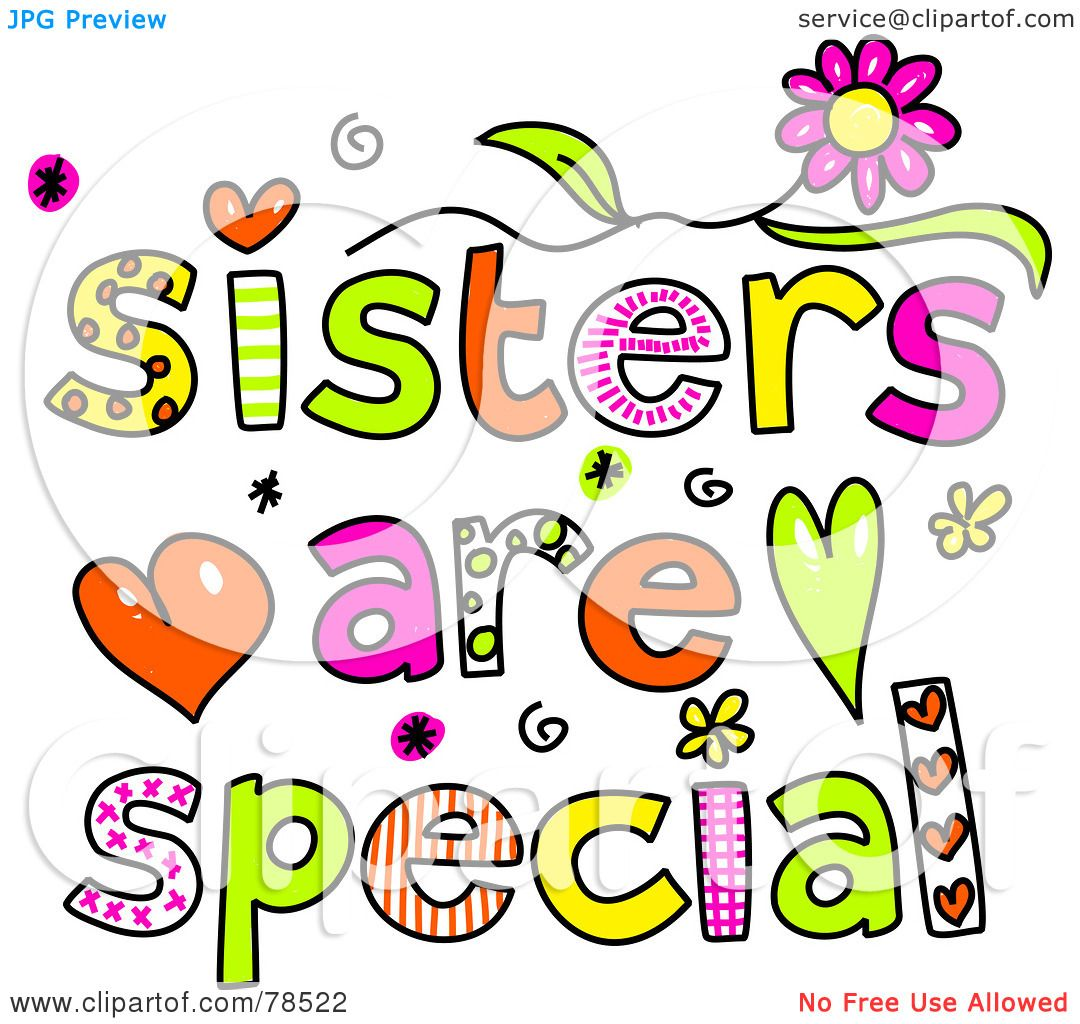 clipart of sisters - photo #46