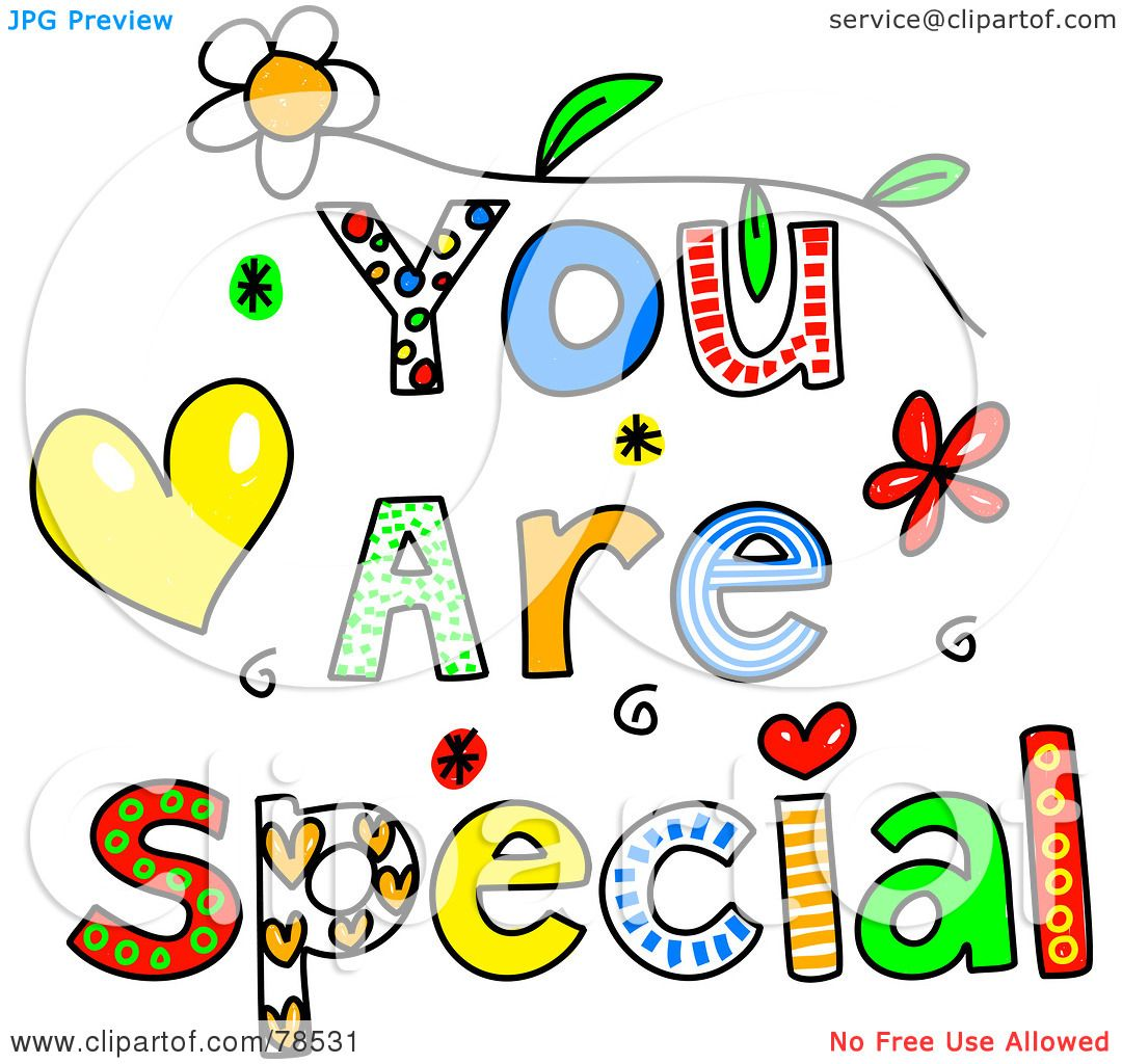 Royalty-Free (RF) Clipart Illustration of Colorful You Are ...