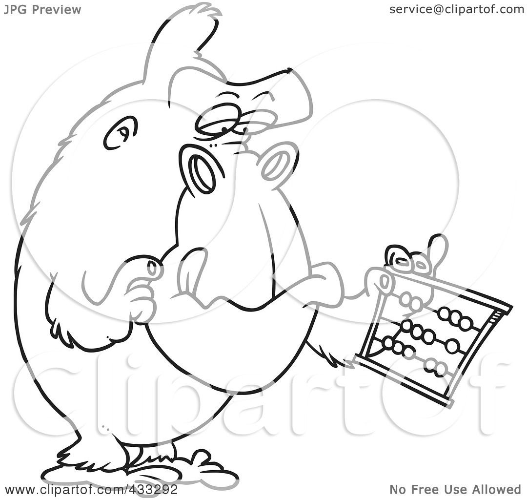 royalty free rf clipart illustration of coloring page line art