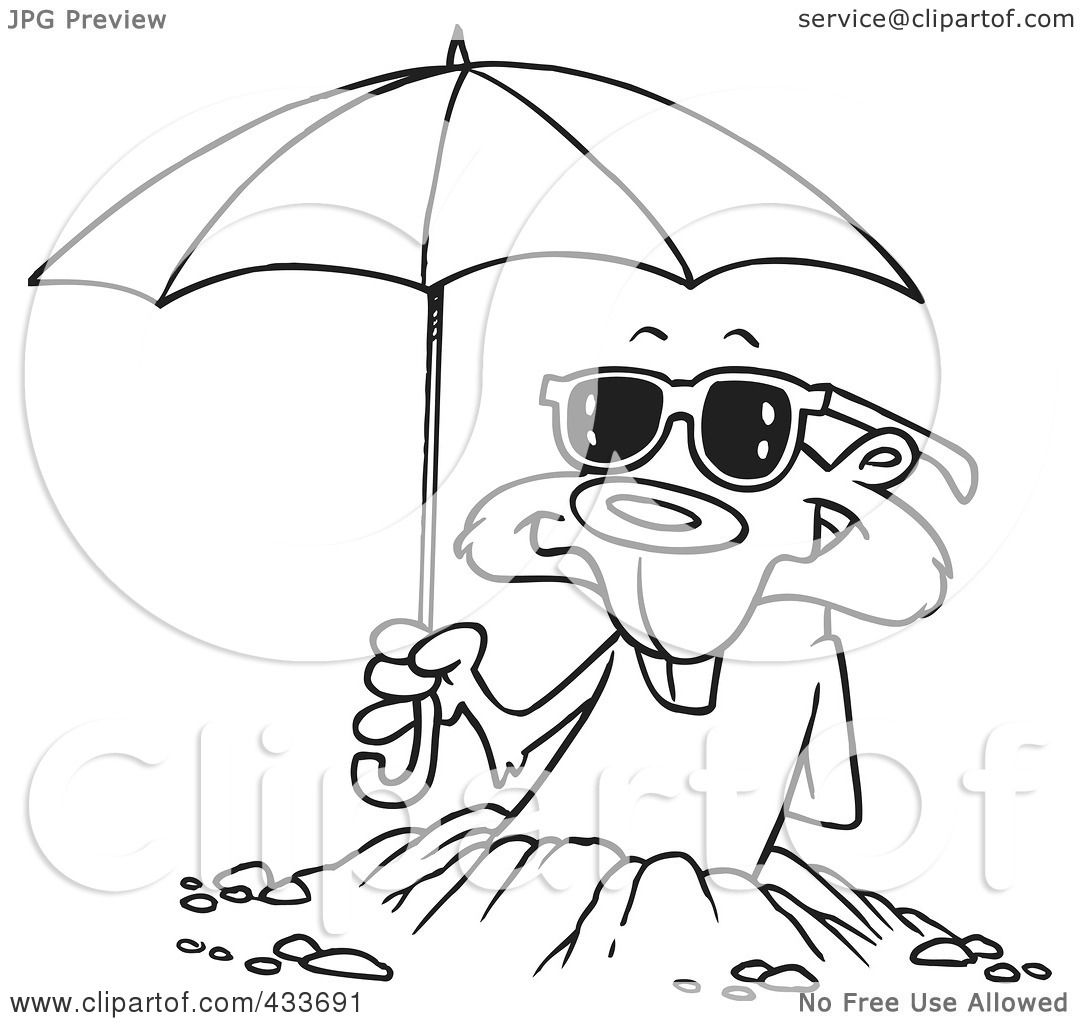 Free coloring pages umbrella