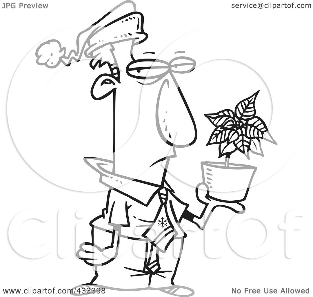 royalty free christmas coloring pages   Royalty-Free (RF) Clipart Illustration Of Coloring Page ...