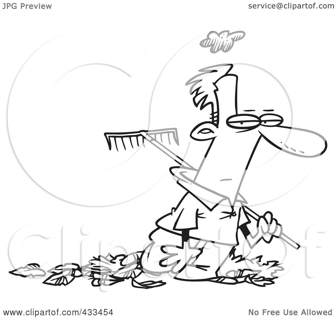 Royalty-Free (RF) Clipart Illustration Of Coloring Page ...