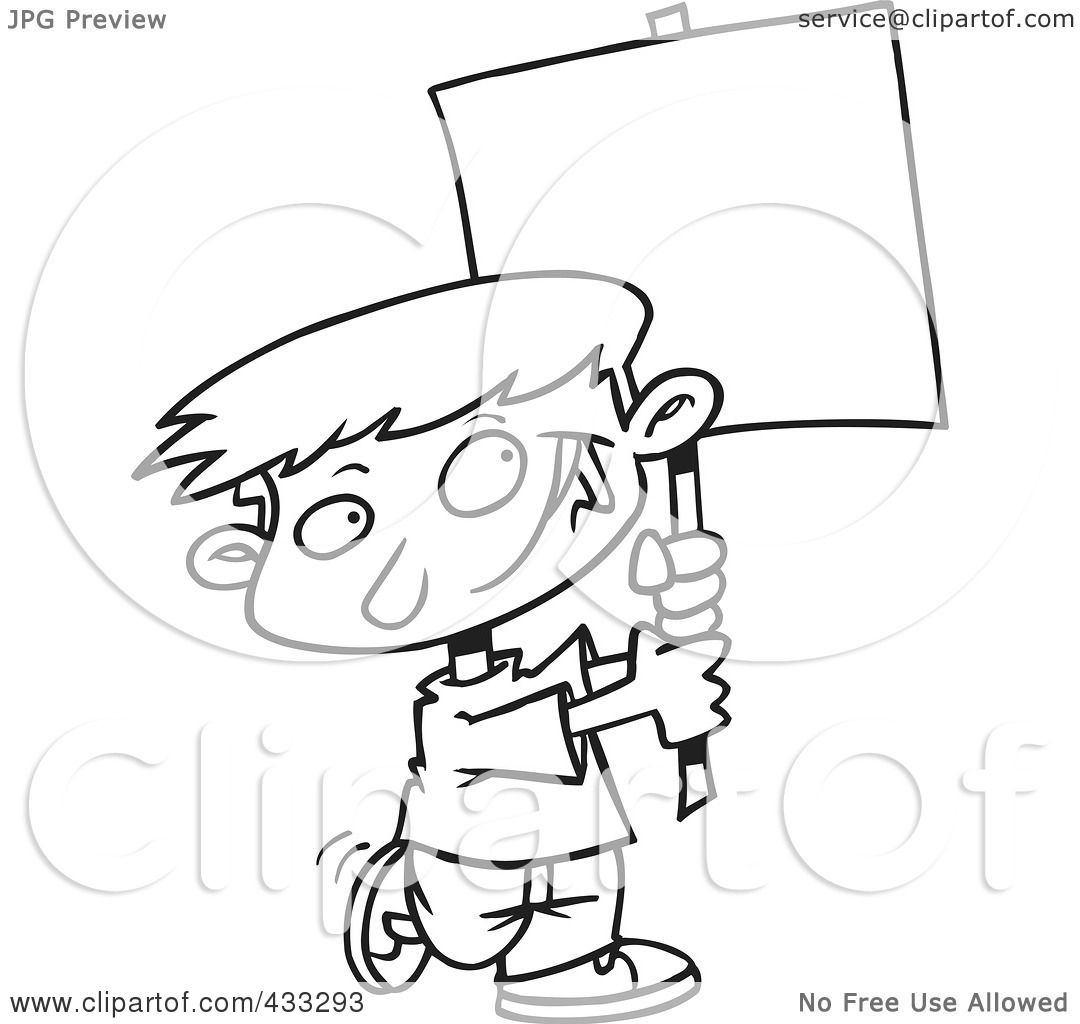 blank person coloring page