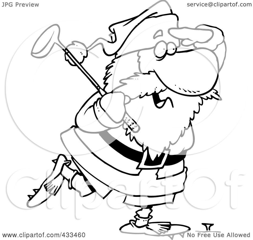 Royalty-Free (RF) Clipart Illustration Of Coloring Page Line Art ...