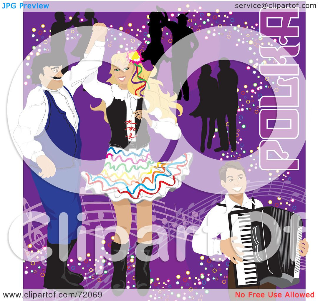 RoyaltyFree RF Clipart Illustration of Couples Dancing