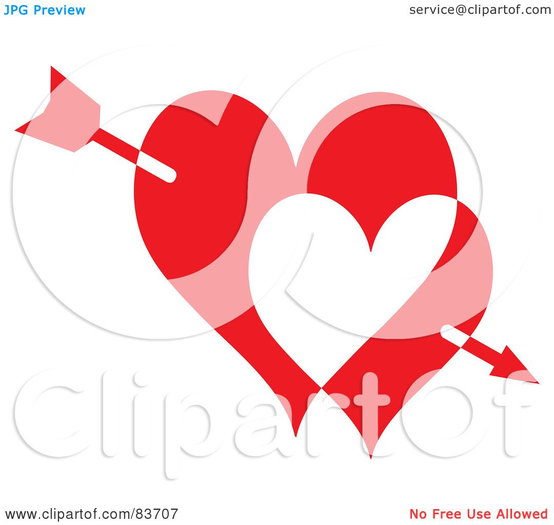 Royalty-Free (RF) Clipart Illustration of Cupid's Arrow Through ...