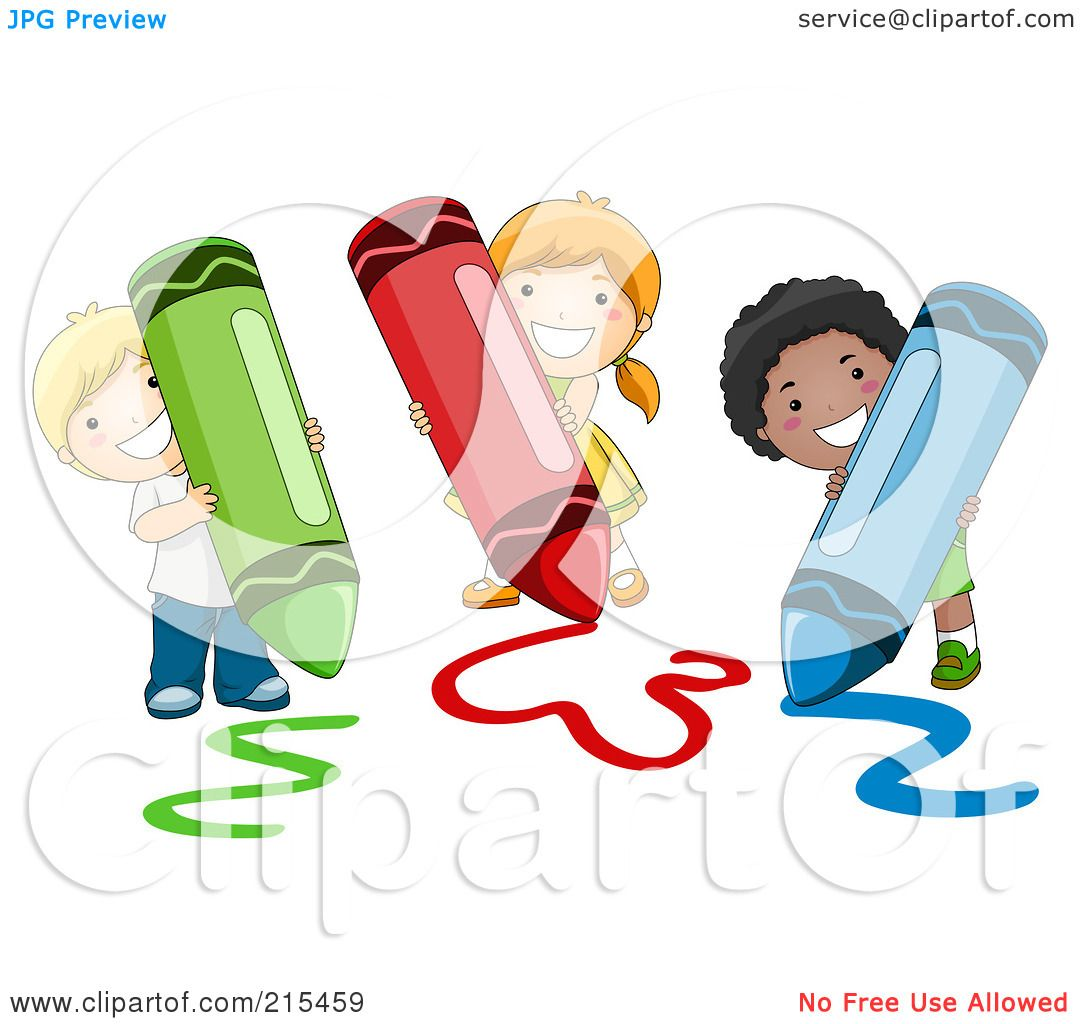 Royalty Free RF Clipart Illustration Of Diverse School