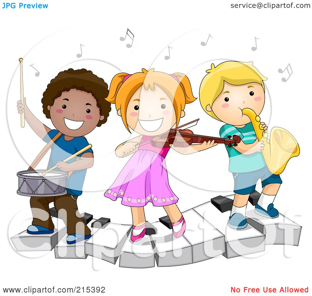 Free rf poodle clipart illustration 215241 by bnp design studio - Royalty Free Rf Clipart Illustration Of Diverse School Kids Playing Instruments On A Keyboard