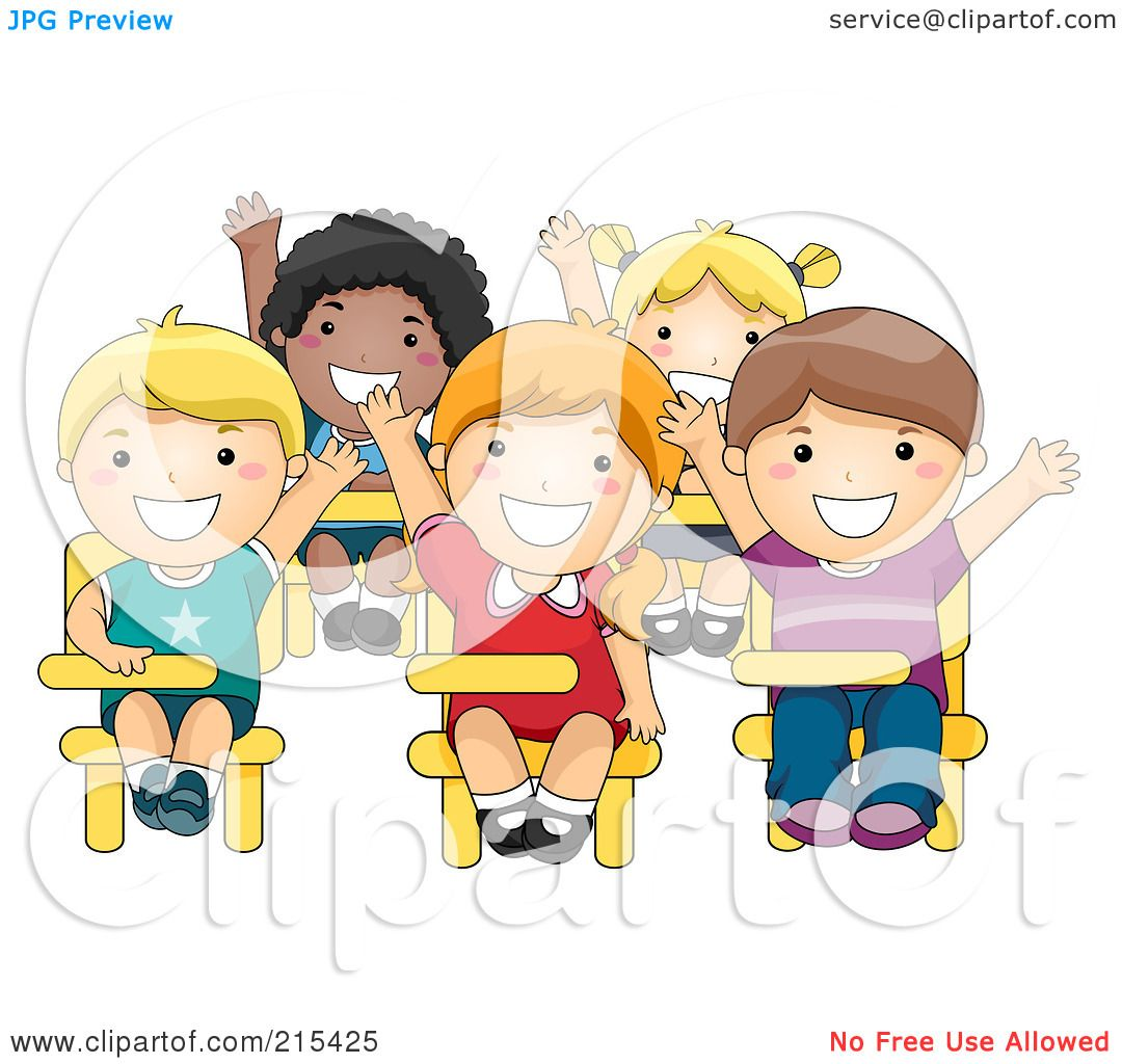 Students Raising Hands Clip Art Royalty-free (rf) clipart