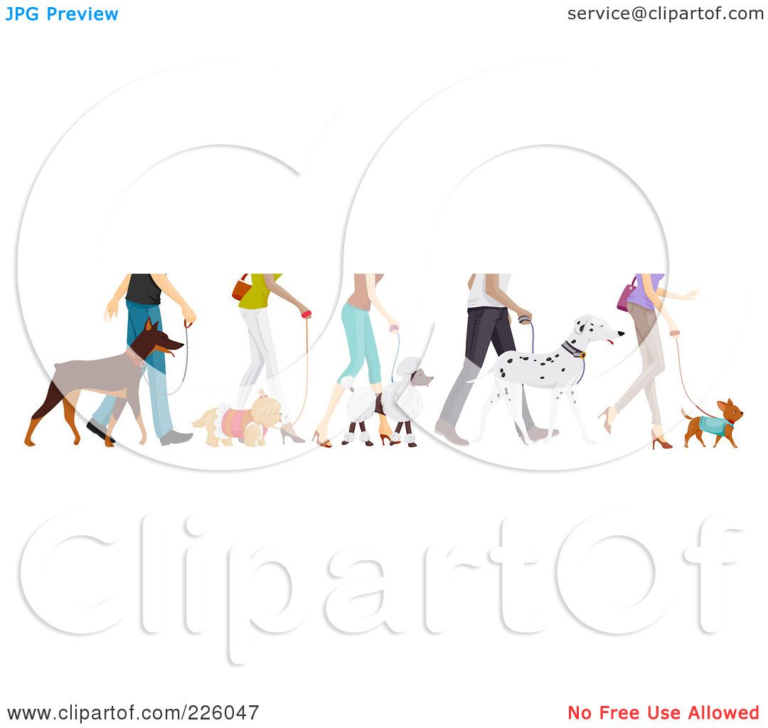 Free rf poodle clipart illustration 215241 by bnp design studio - Royalty Free Rf Clipart Illustration Of Feet Of People Walking Their Dogs By Bnp Design Studio