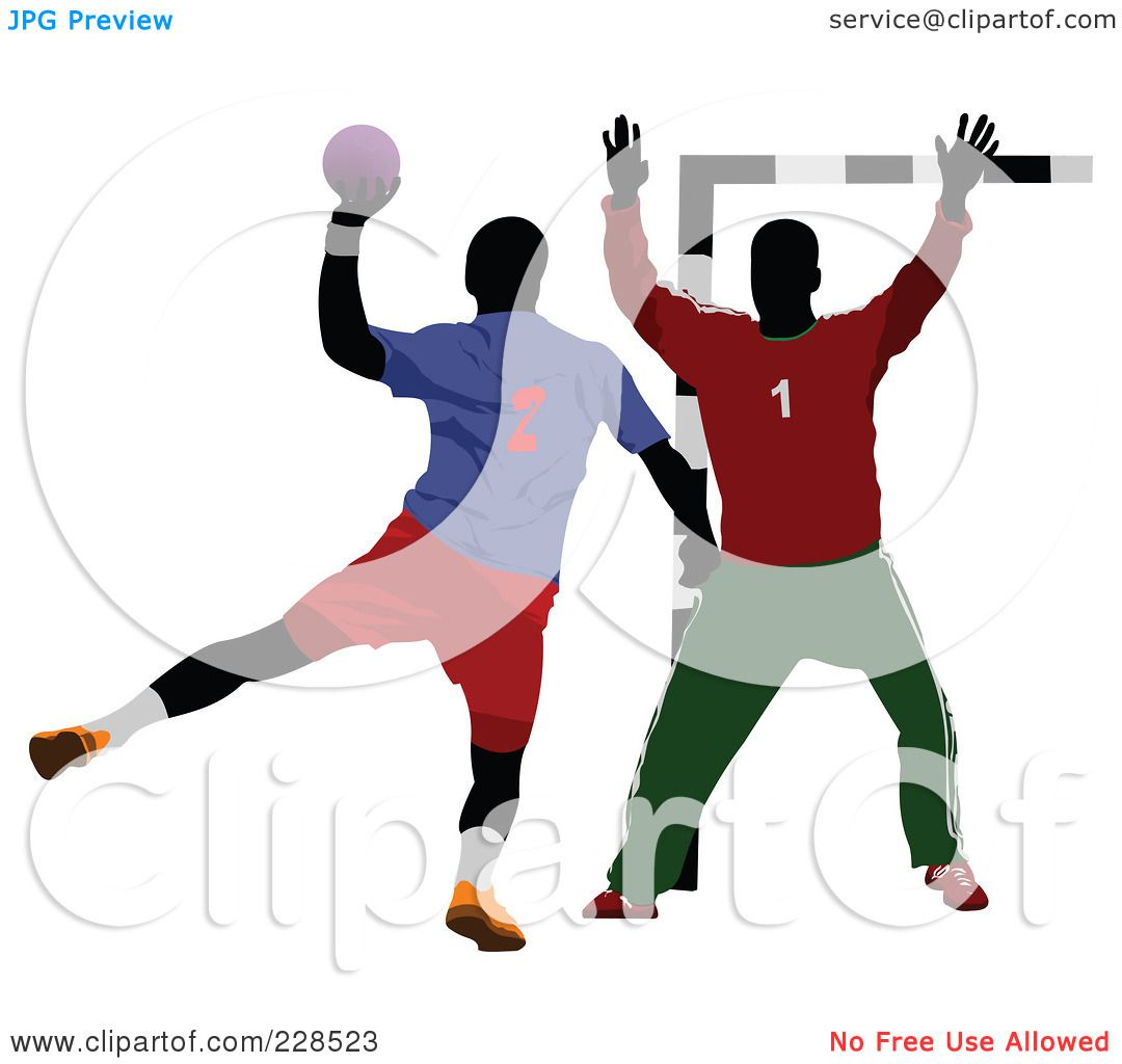 Royalty-Free (RF) Clipart Illustration of Handball - 2 by leonid ...