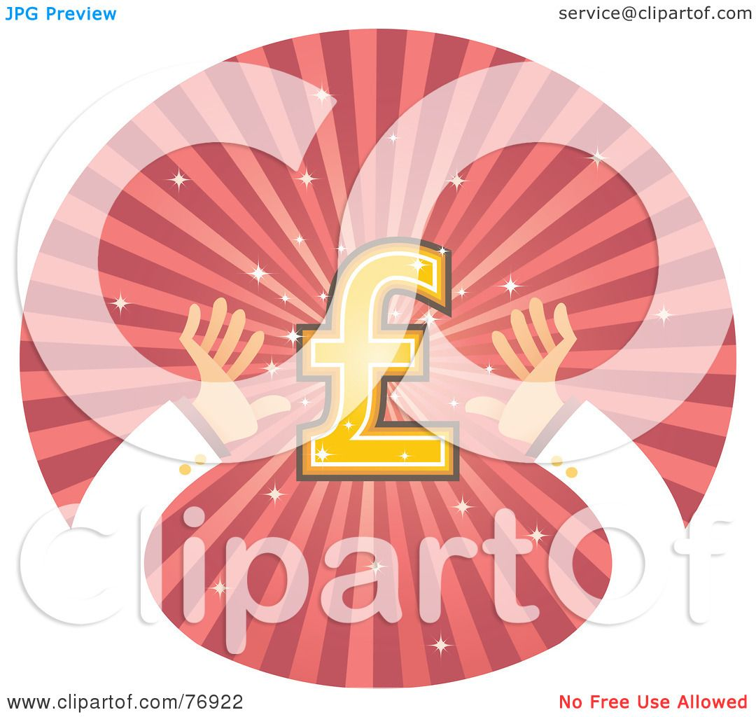 Royalty Free Rf Clipart Illustration Of Hands Reaching For A Pound