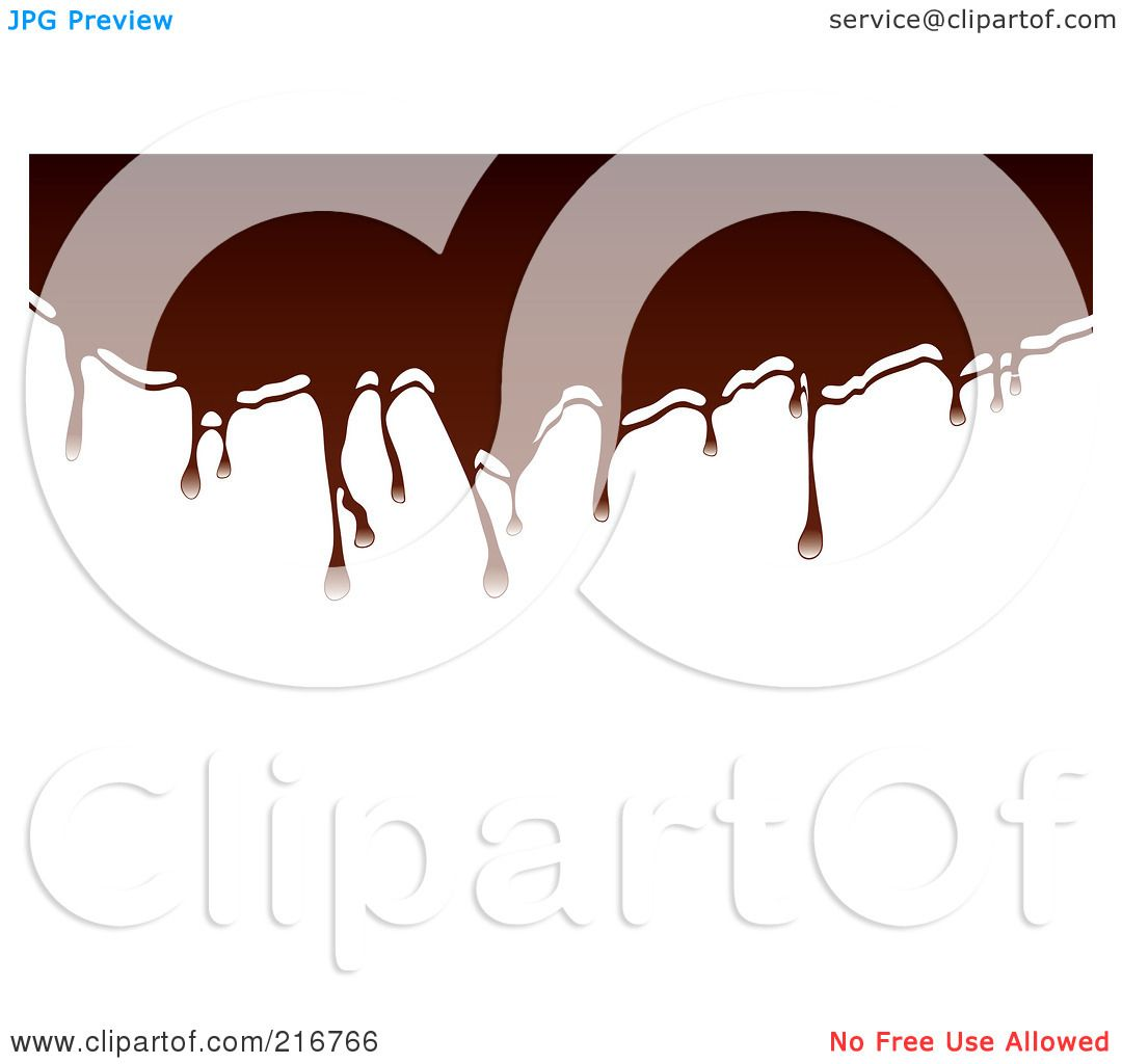 Royalty-Free (RF) Clipart Illustration of Hot Chocolate ... Melted Chocolate Clip Art