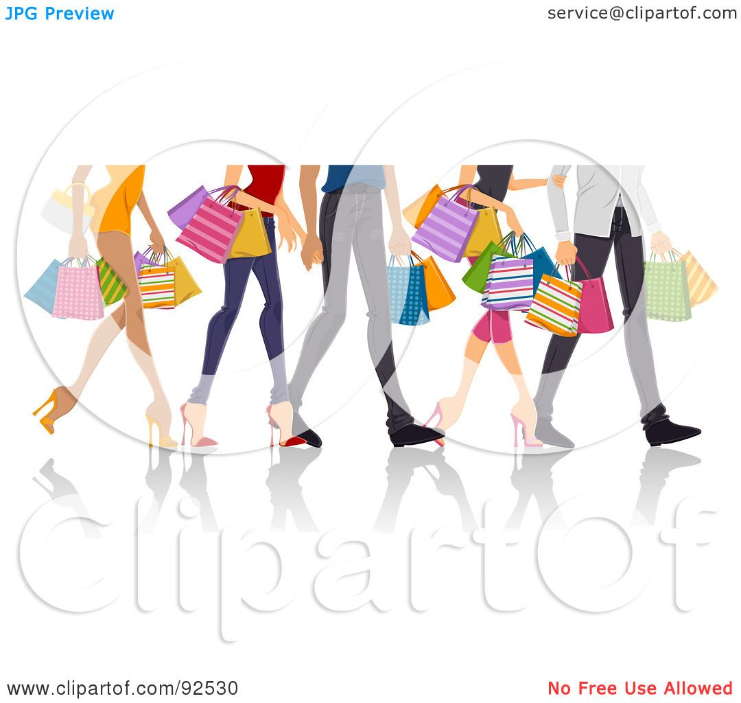 Free rf poodle clipart illustration 215241 by bnp design studio - Royalty Free Rf Clipart Illustration Of Legs Of Shopping Adults