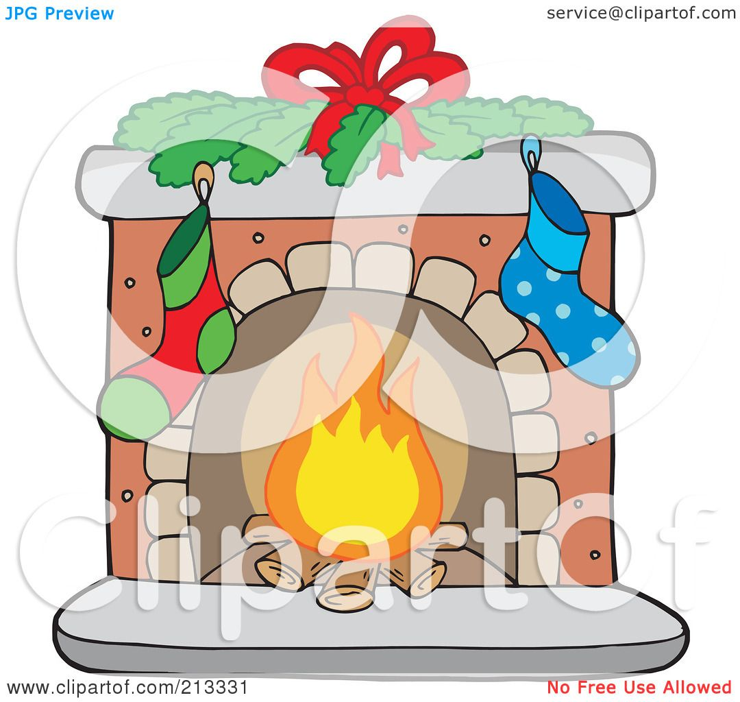 Royalty-Free (RF) Clipart Illustration of Logs Burning In A ...