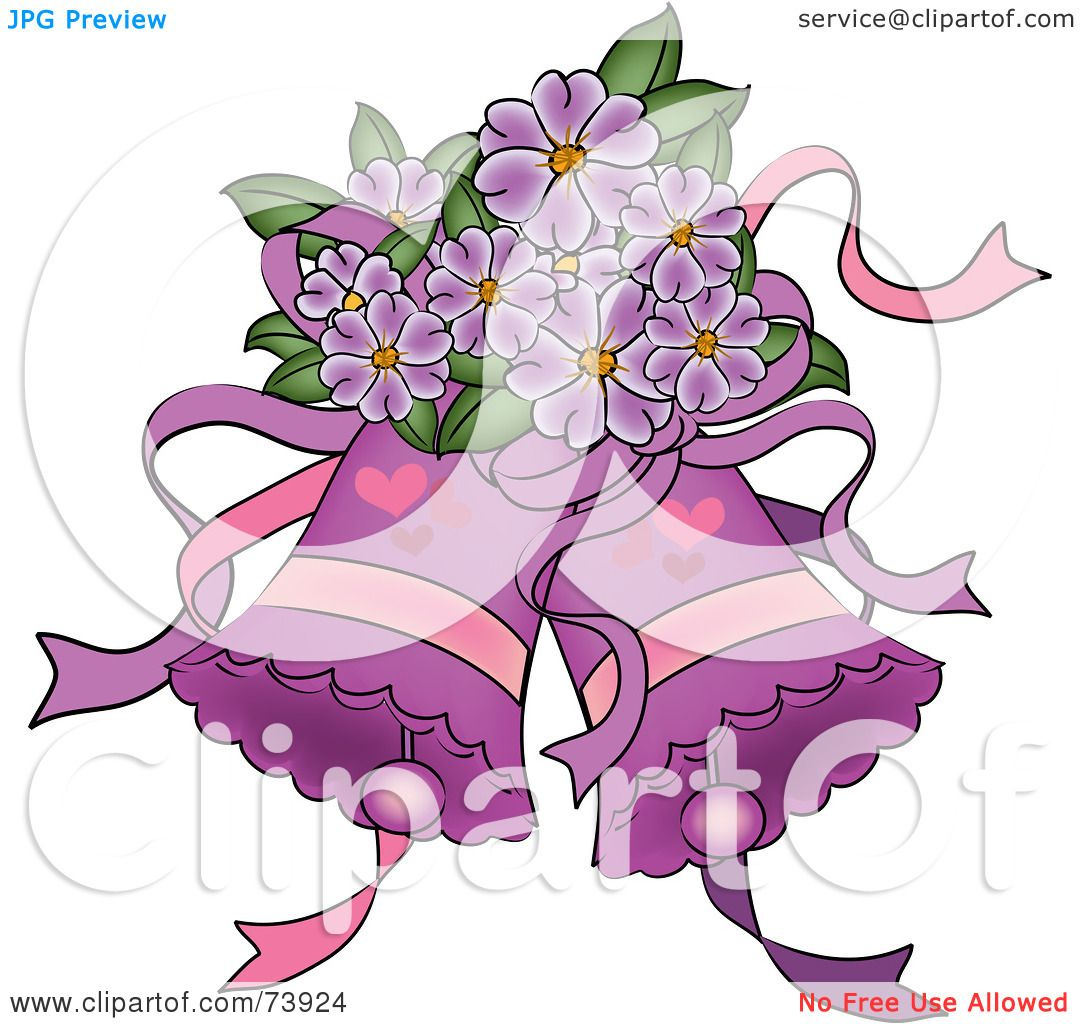 Wedding Bell Clipart: Royalty-Free (RF) Clipart Illustration Of Purple Wedding