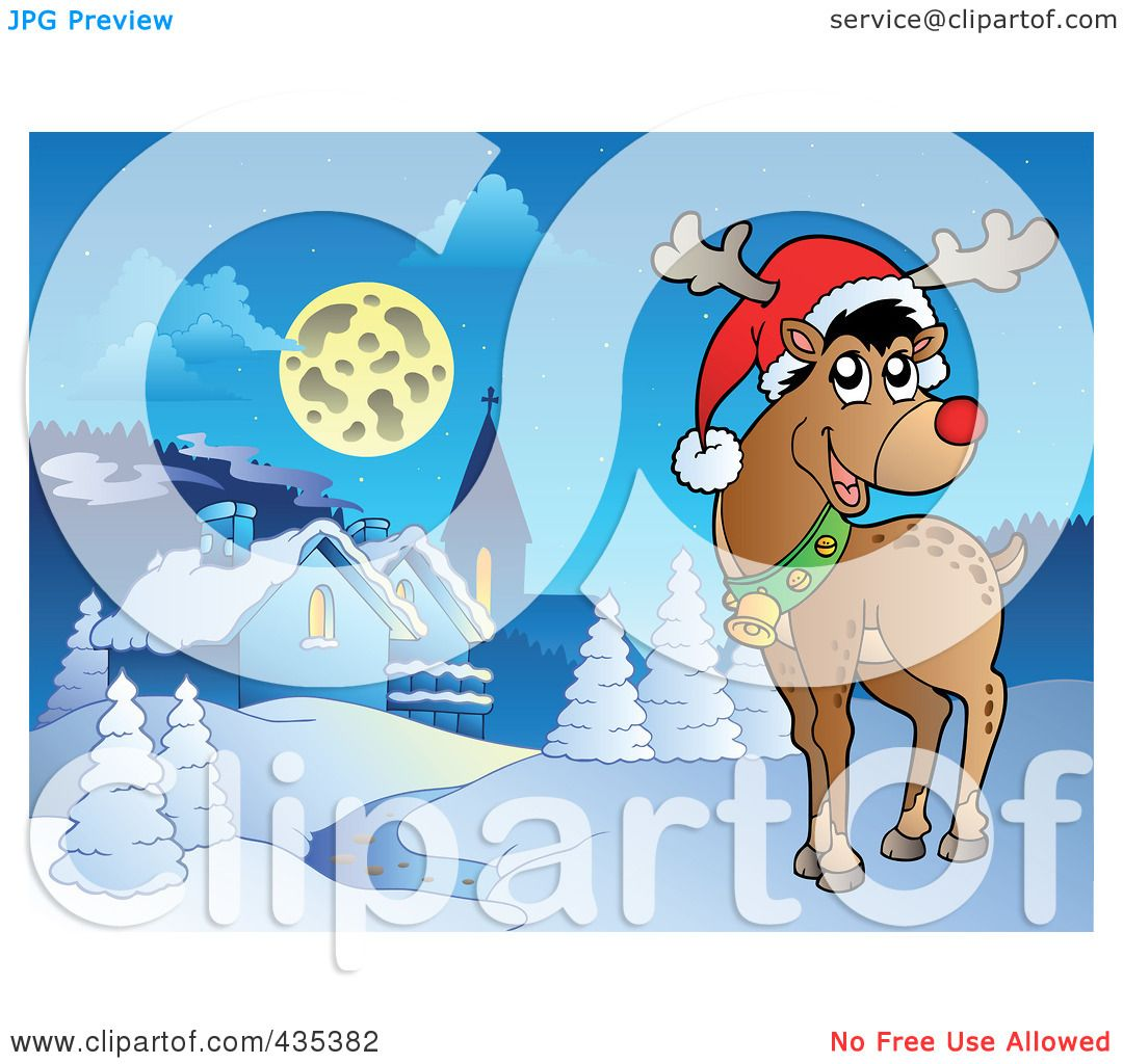 Royalty Free RF Clipart Illustration Of Rudolph The Red