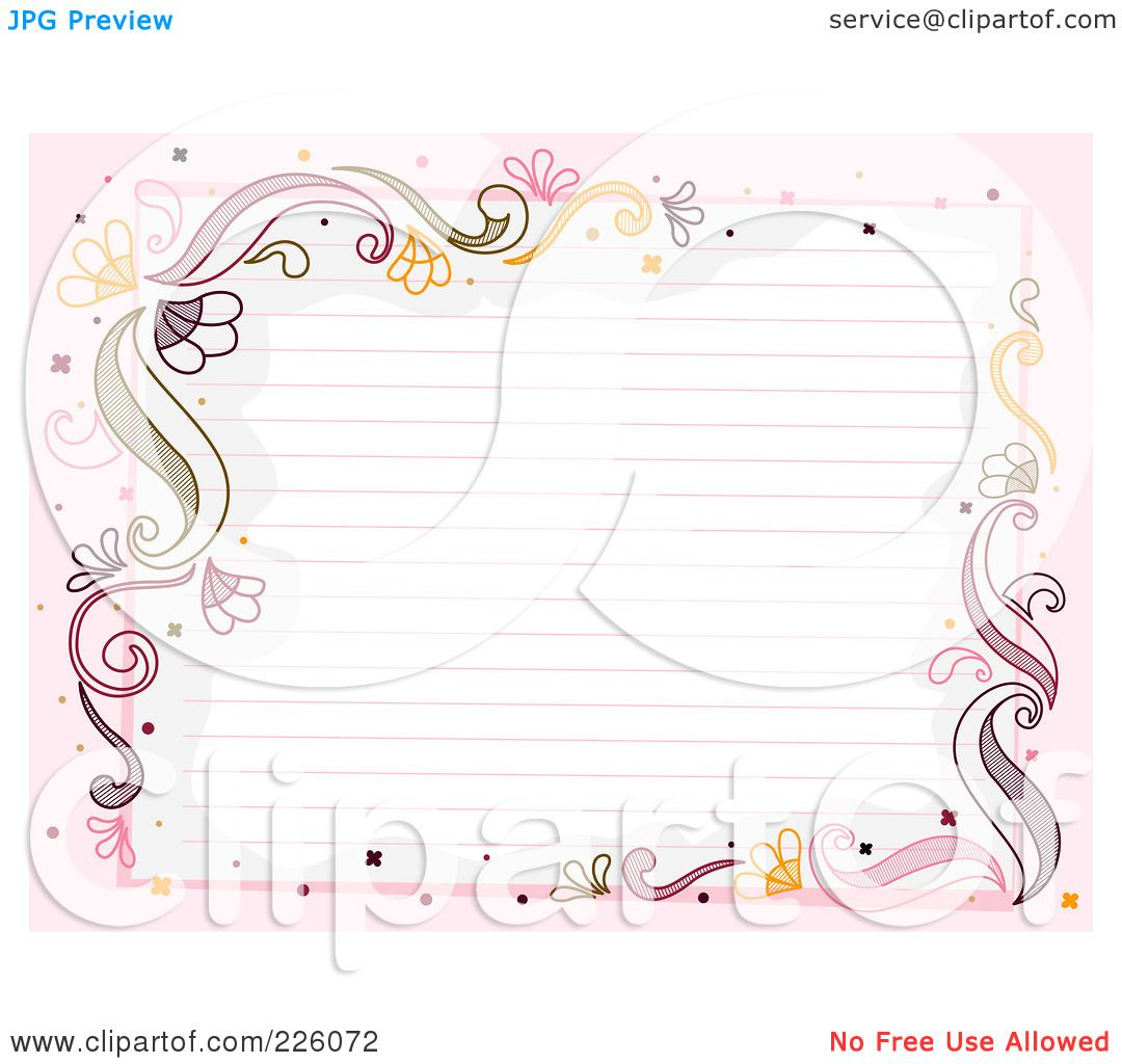 Lined Paper Clipart Of ruled paper bordered