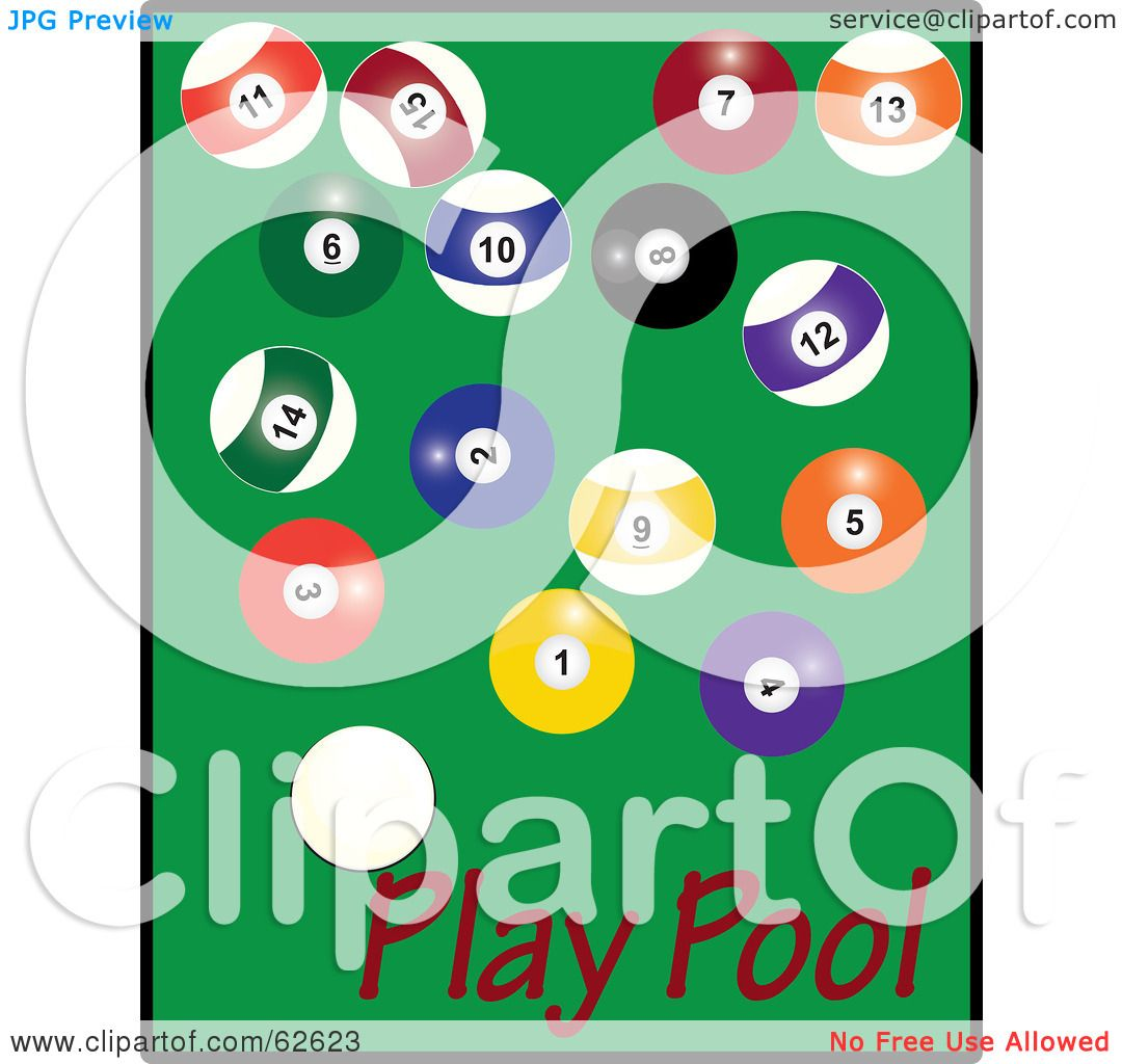 Pool Table Balls Scattered Royalty-Free (R...