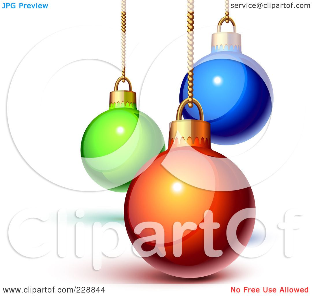 Royalty-Free (RF) Clipart Illustration of Shiny 3d Green, Blue And ...