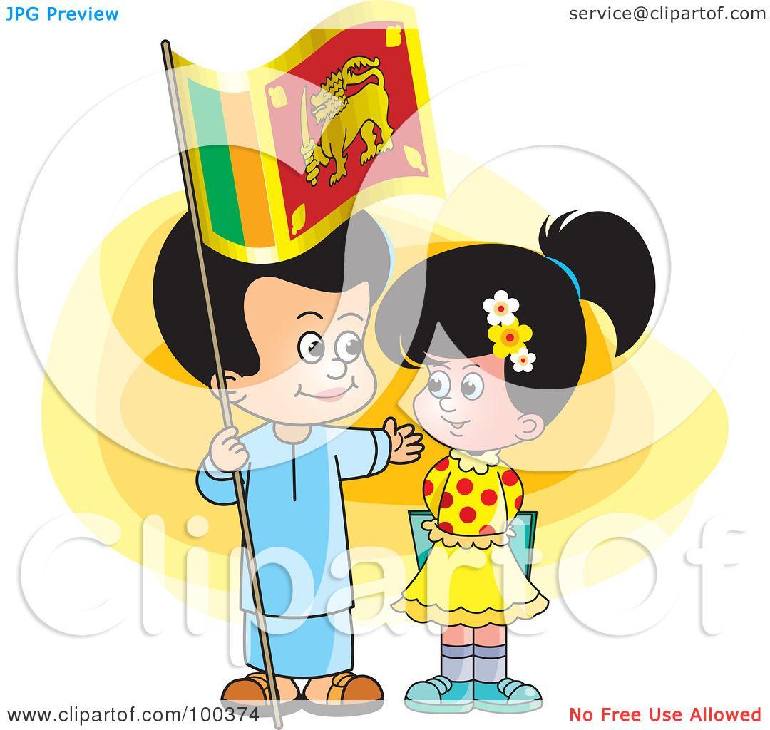 Royalty Free Rf Clipart Illustration Of Sinhala Children