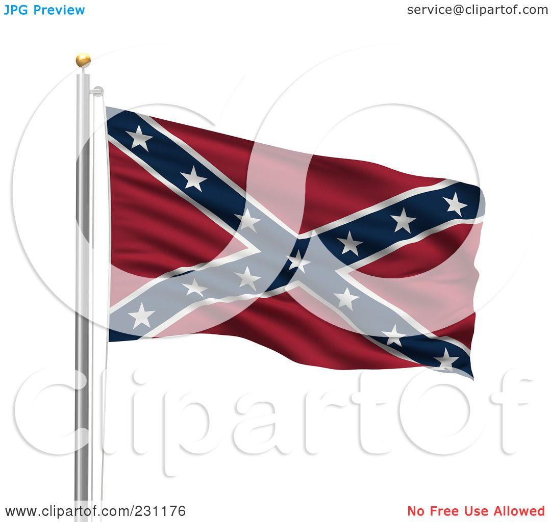 Royalty-Free (RF) Clipart Illustration of The Confederate ...