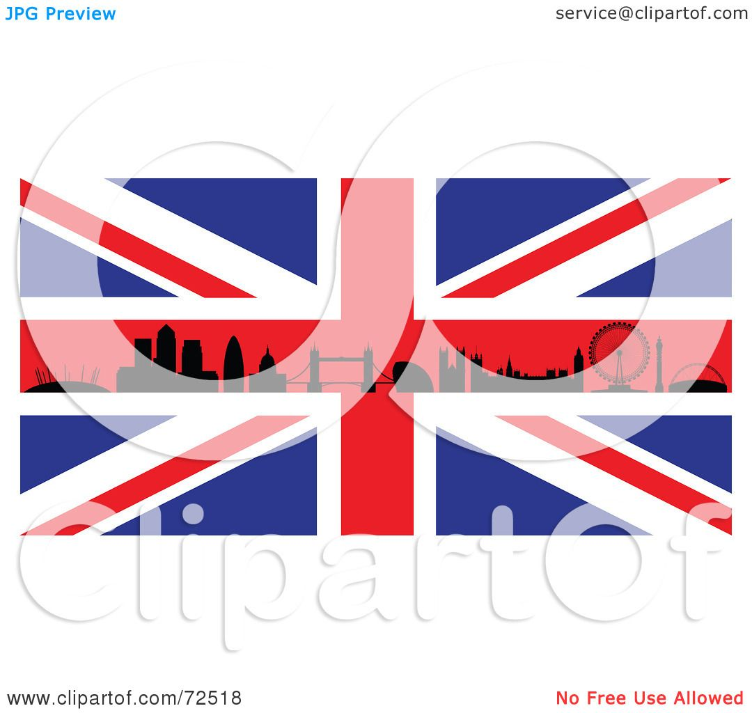 royalty free rf clipart illustration of the silhouetted london