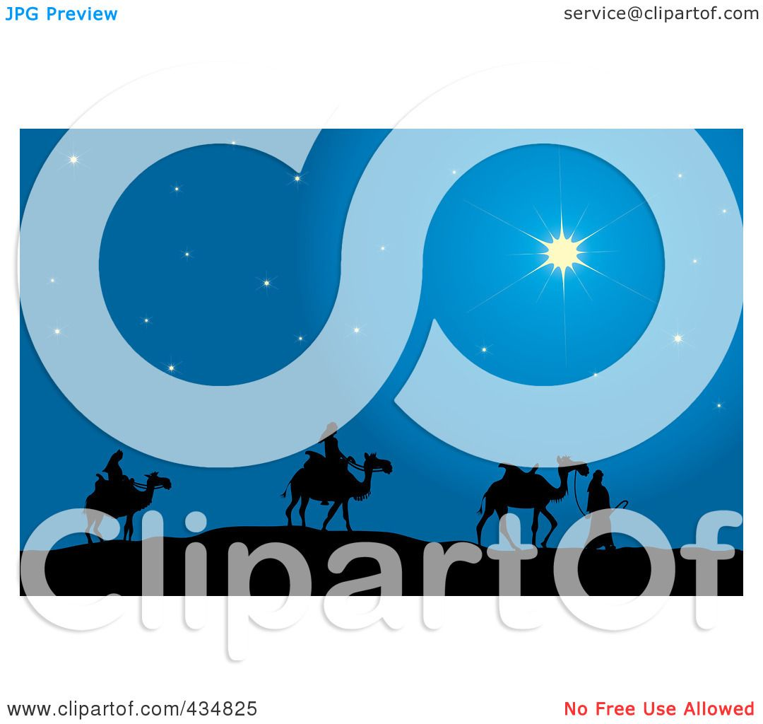 Royalty-Free (RF) Clipart Illustration of The Three Wise Men ...