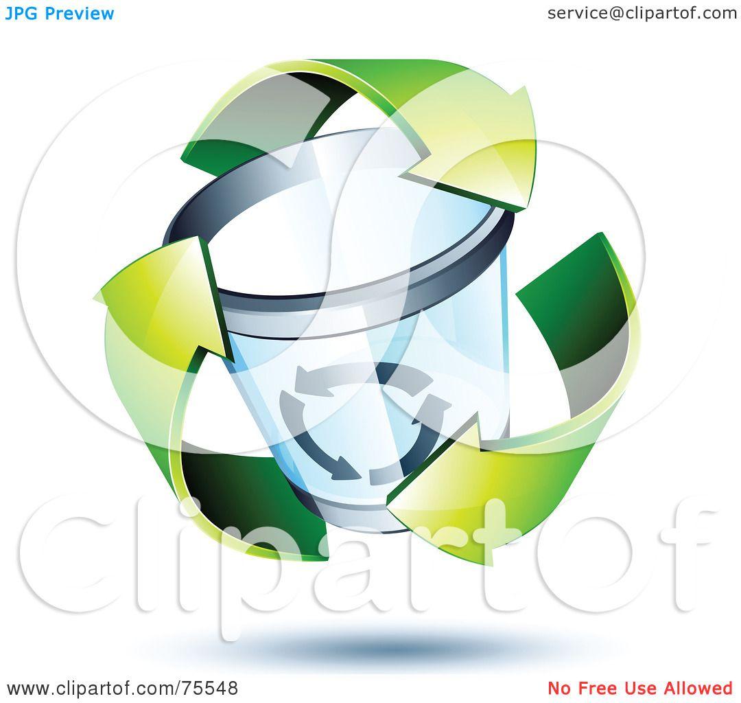Royalty Free Rf Clipart Illustration Of Three 3d Green