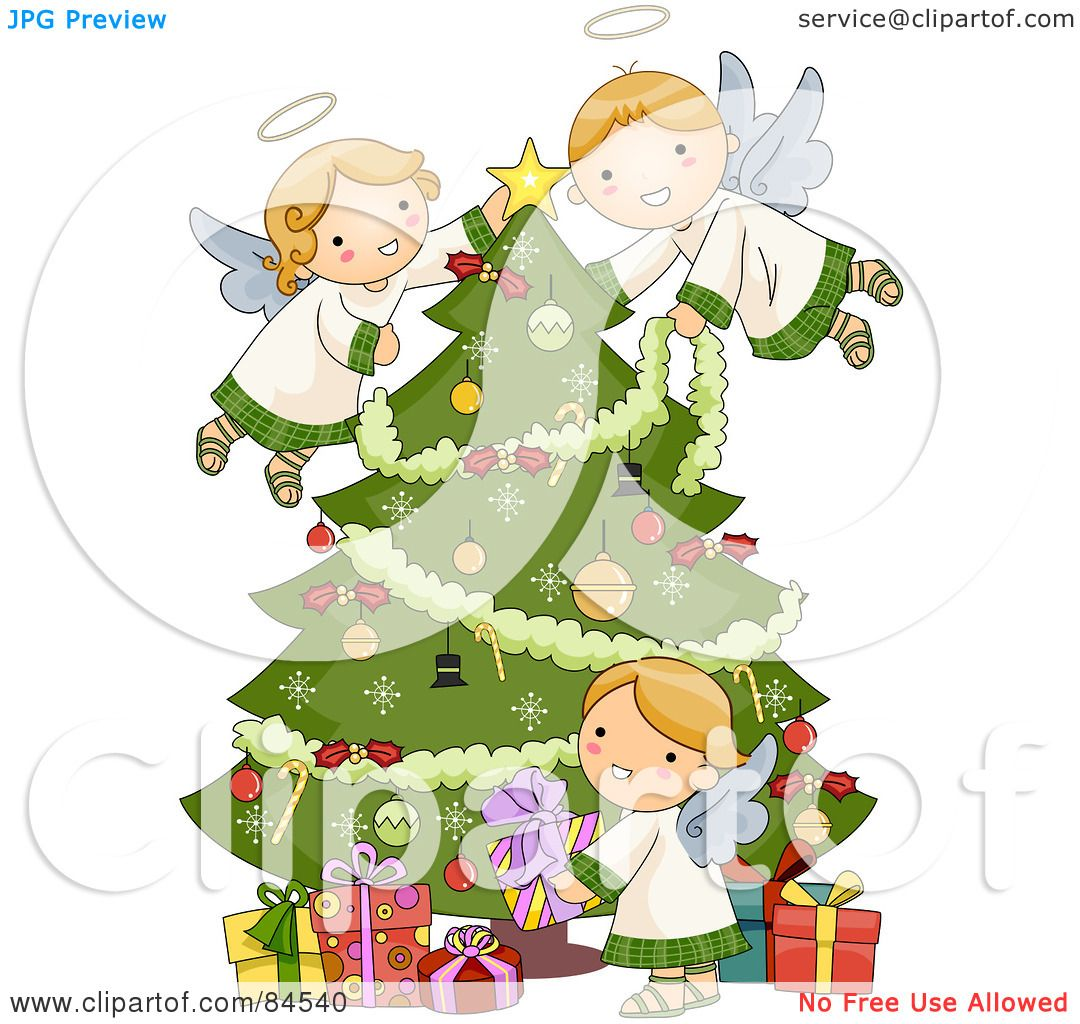 Royalty-Free (RF) Decorating A Christmas Tree Clipart, Illustrations ...