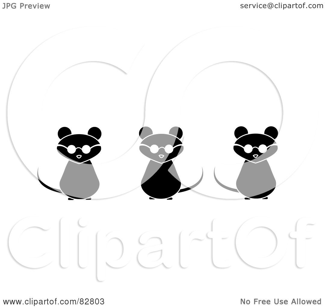 Royalty-Free (RF) Clipart Illustration of Three Black And ...