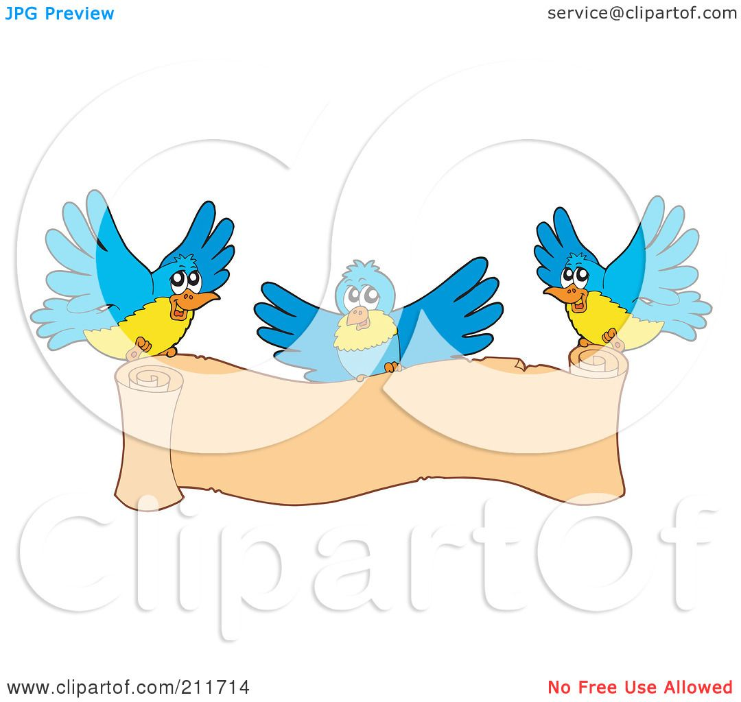Royalty Free Rf Clipart Illustration Of Three Blue And
