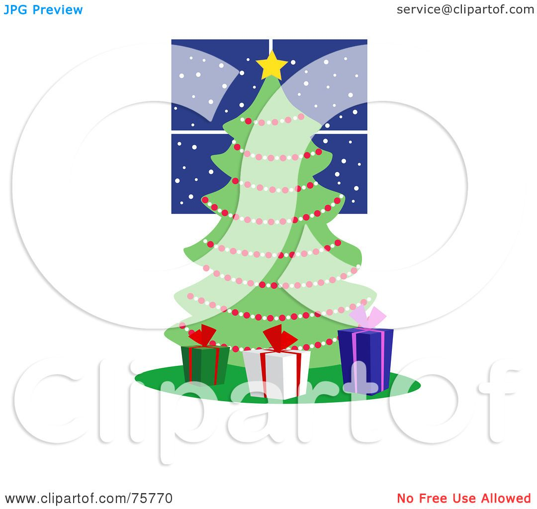 Royalty-Free (RF) Clipart Illustration of Three Gift Boxes Around A ...