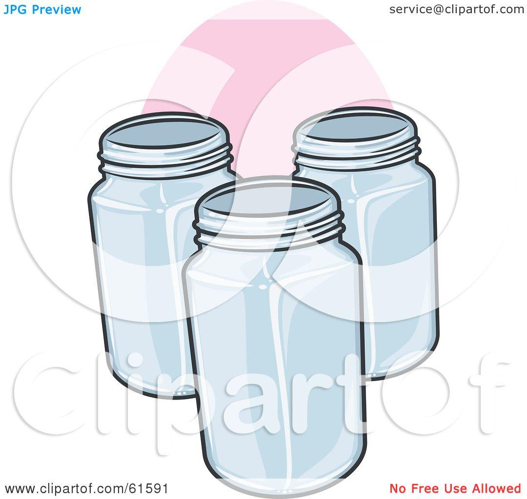 Royalty Free Rf Clipart Illustration Of Three Glass