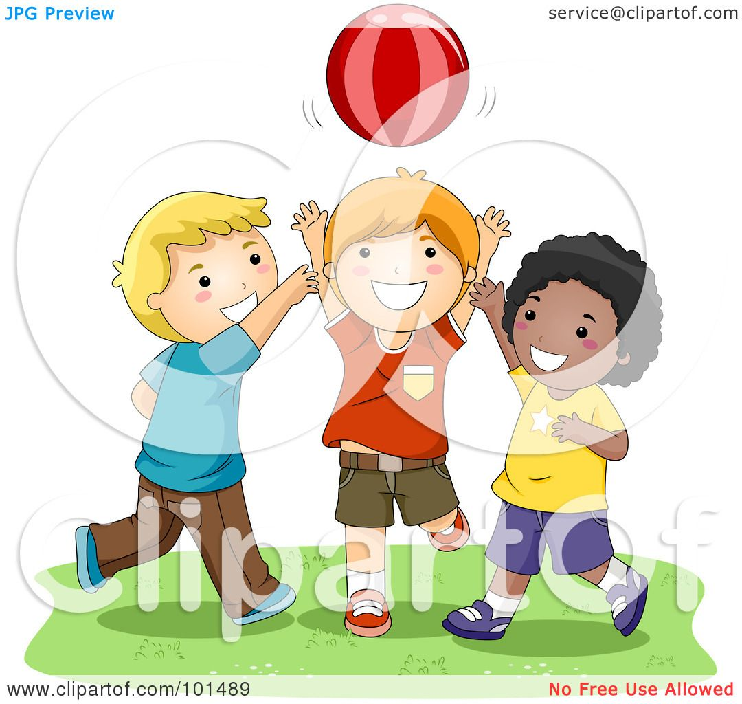 Royalty-Free (RF) Clipart Illustration of Three Happy Boys ...