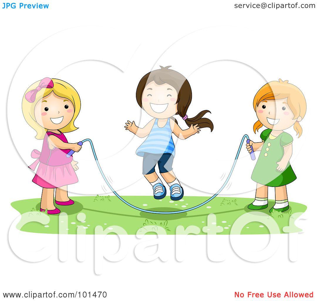 Royalty-Free (RF) Clipart Illustration of Three Happy ...