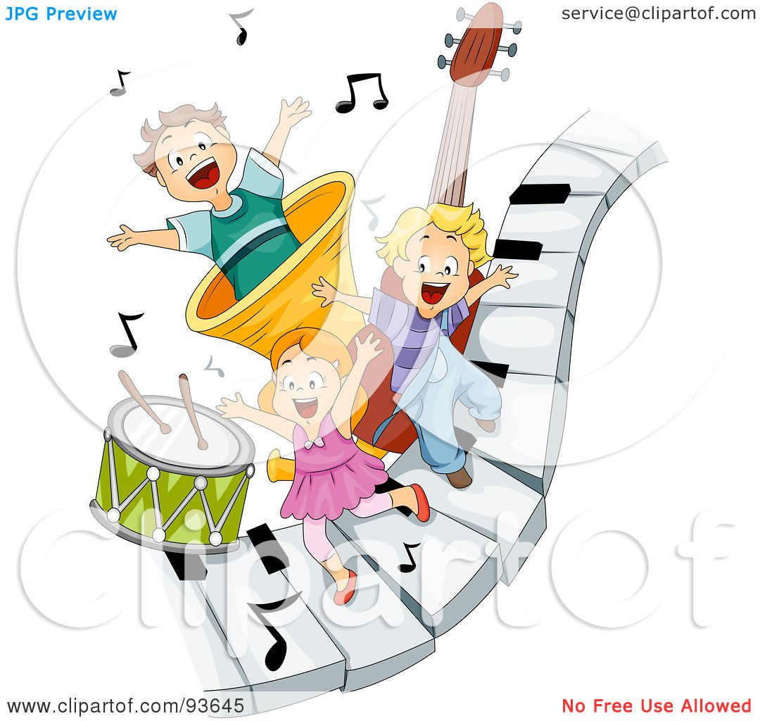 Piano Notes Clip Art Royalty-free clipart picture