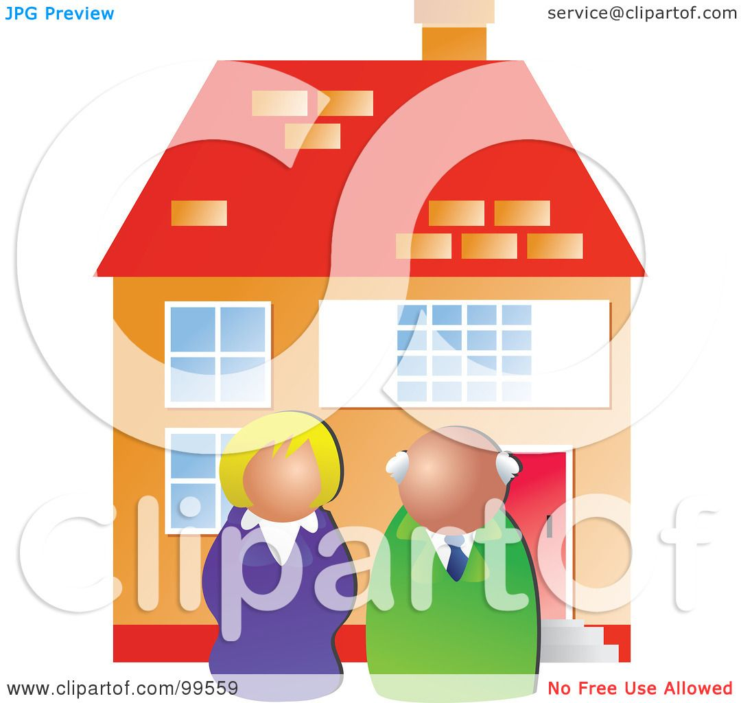 Royalty free rf clipart illustration of two real estate for Clipart estate