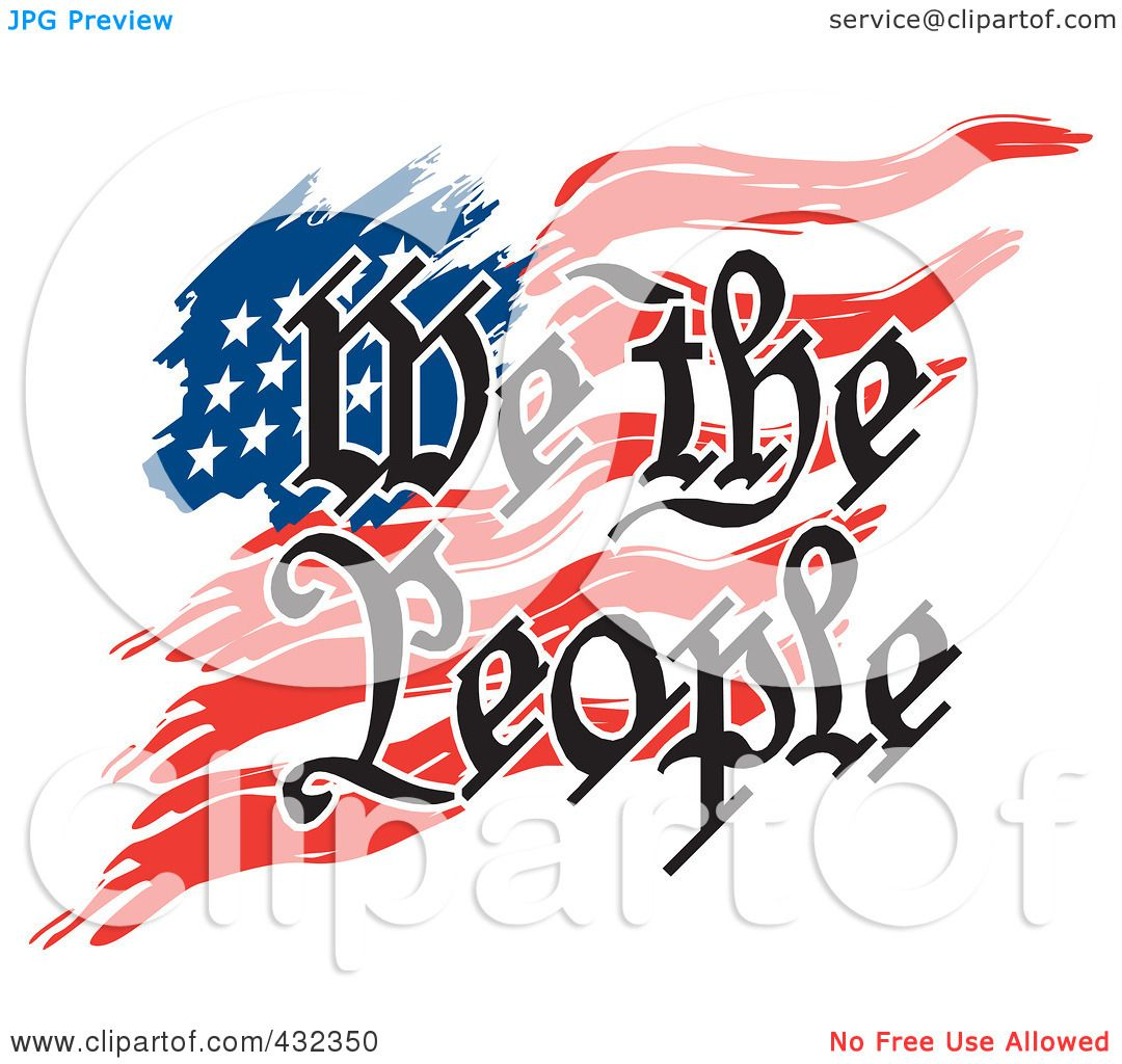 Royalty-Free (RF) Clipart Illustration Of We The People