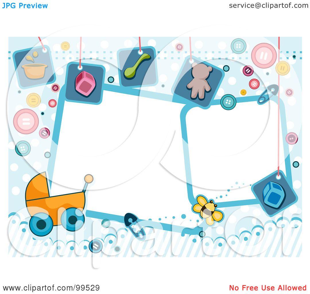 Royalty-Free (RF) Clipart Illustration Of White Frames