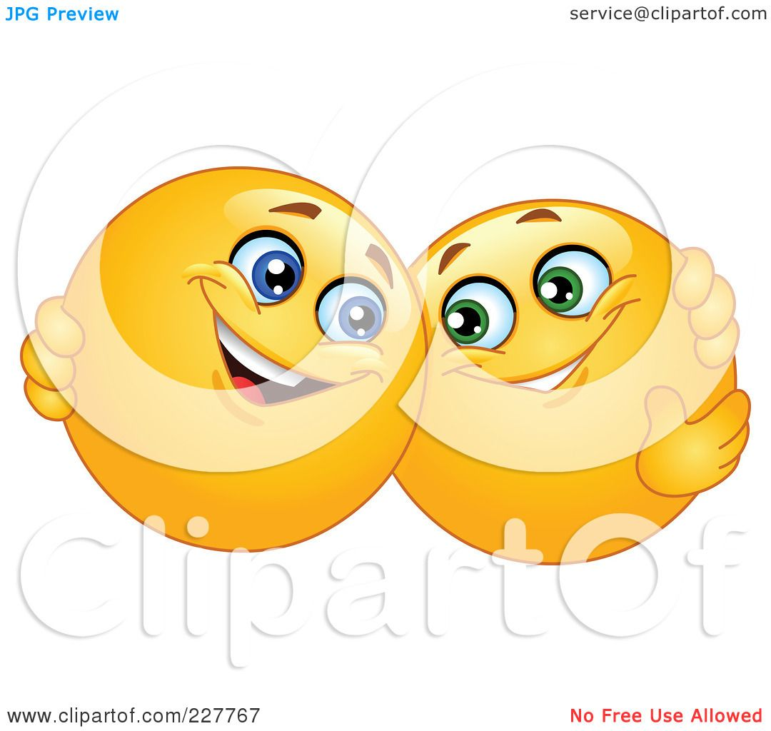Royalty Free Rf Clipart Illustration Of Yellow Smiley Face