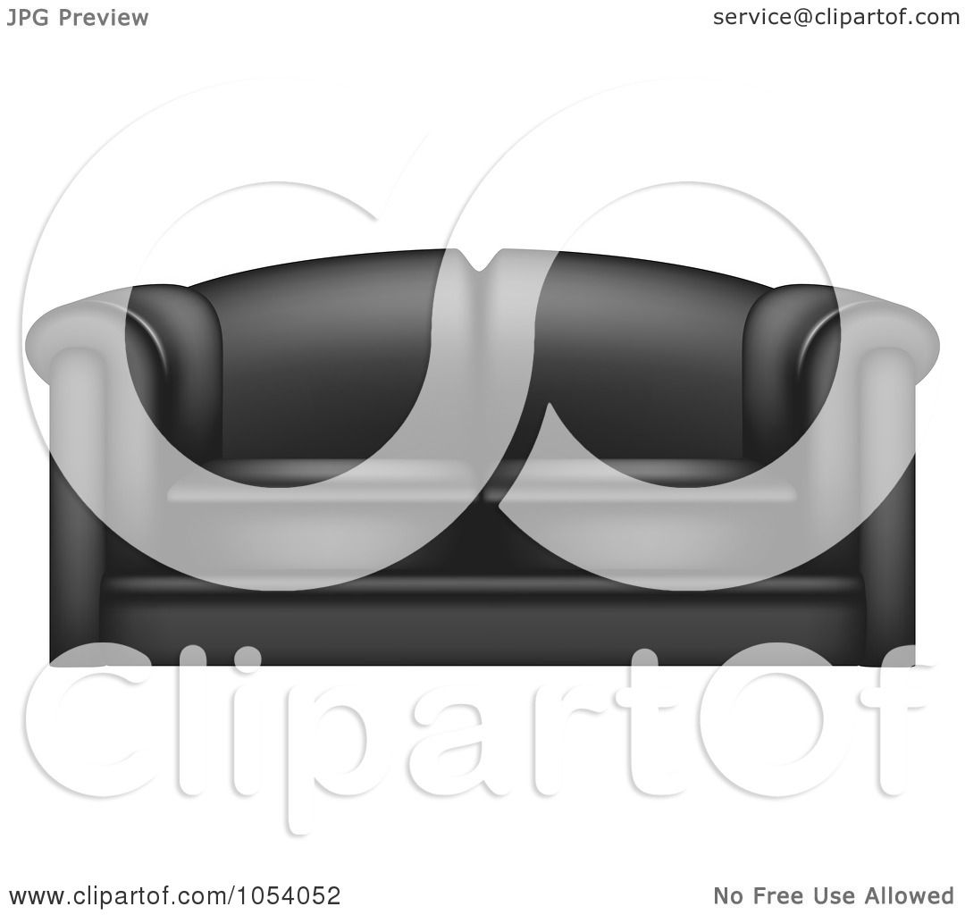 Reception Chair in Waiting Room Chairs |Clipart Black Leather Chair