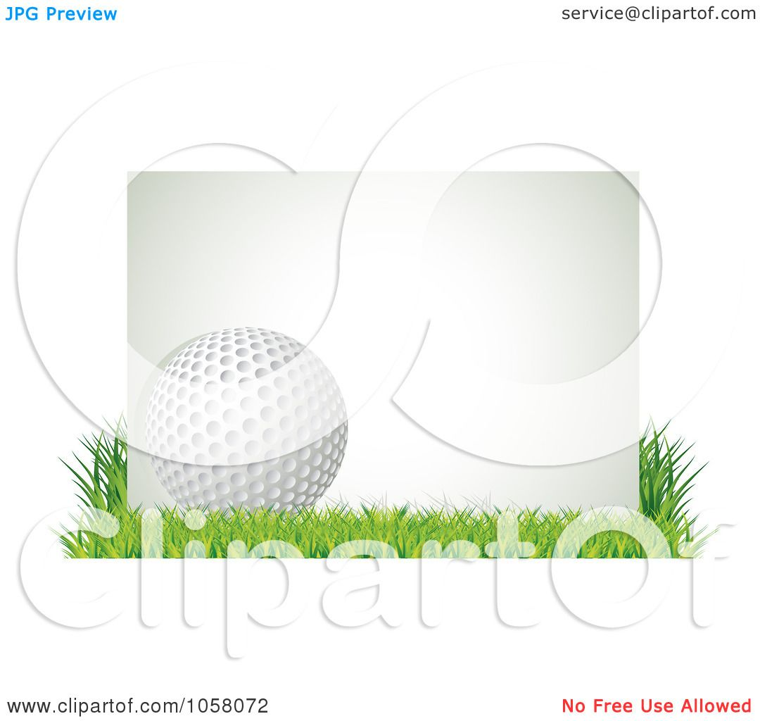 royalty free vector clip art illustration of a 3d golf ball with a