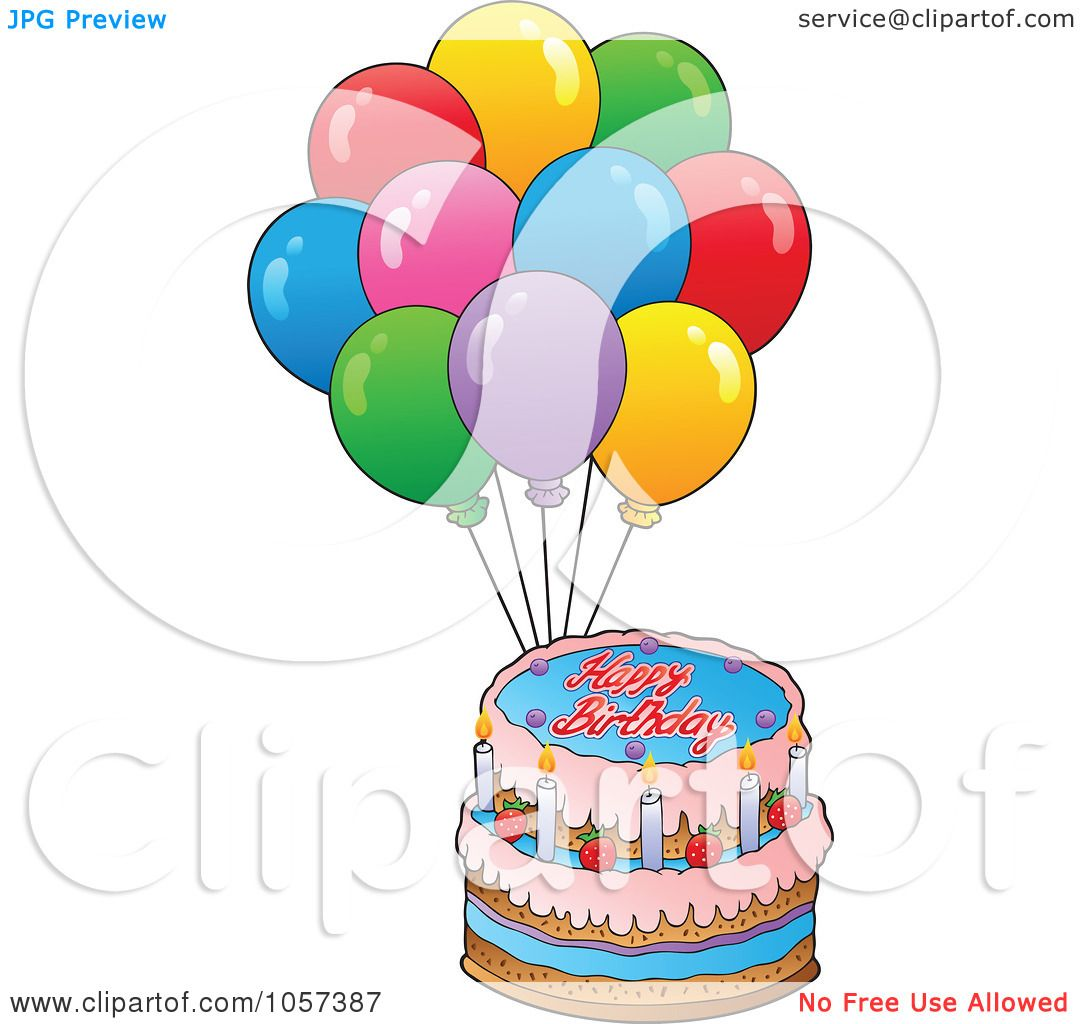 RoyaltyFree Vector Clip Art Illustration of a Birthday Cake And