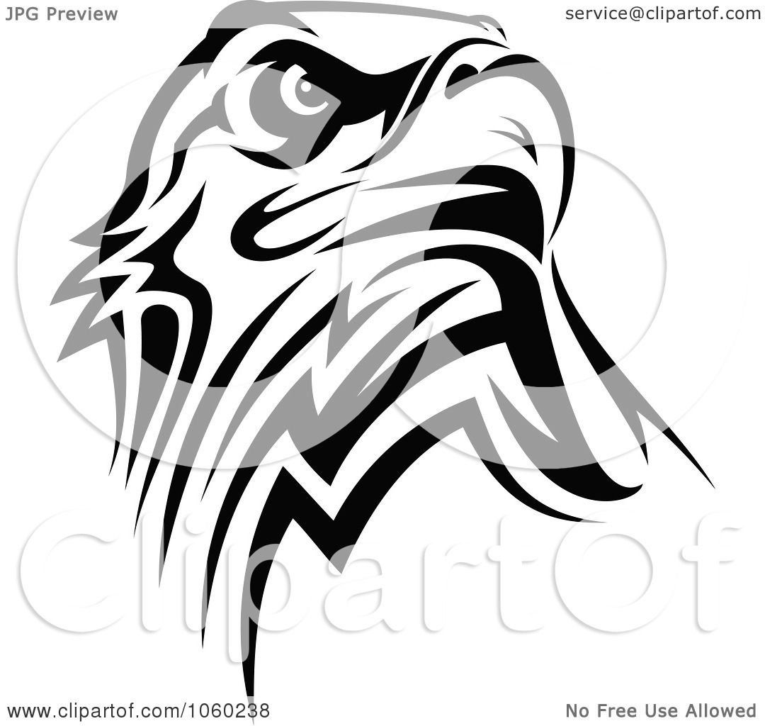 Eagle head logo black and white - photo#26