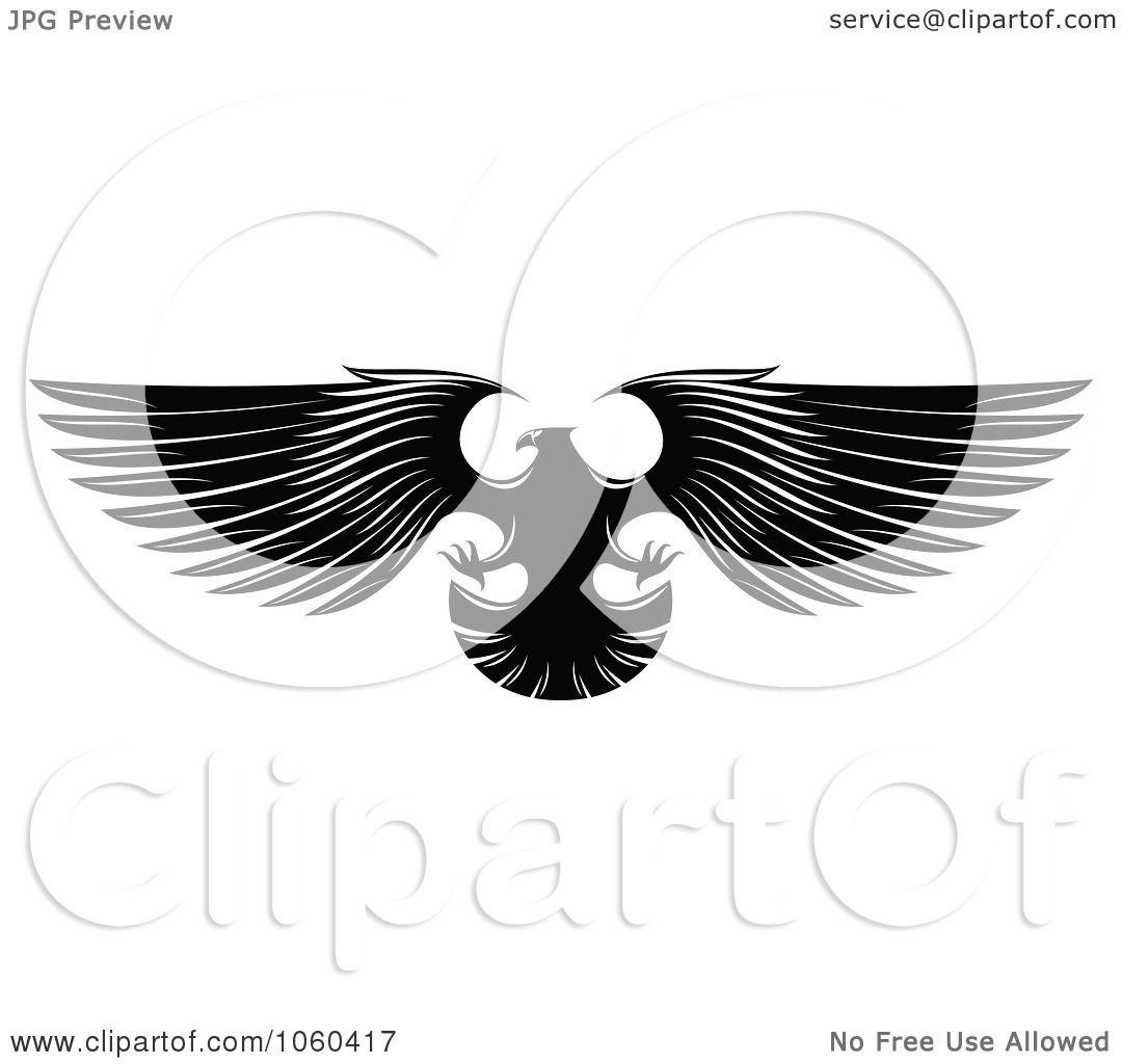 Eagle black and white logo - photo#23