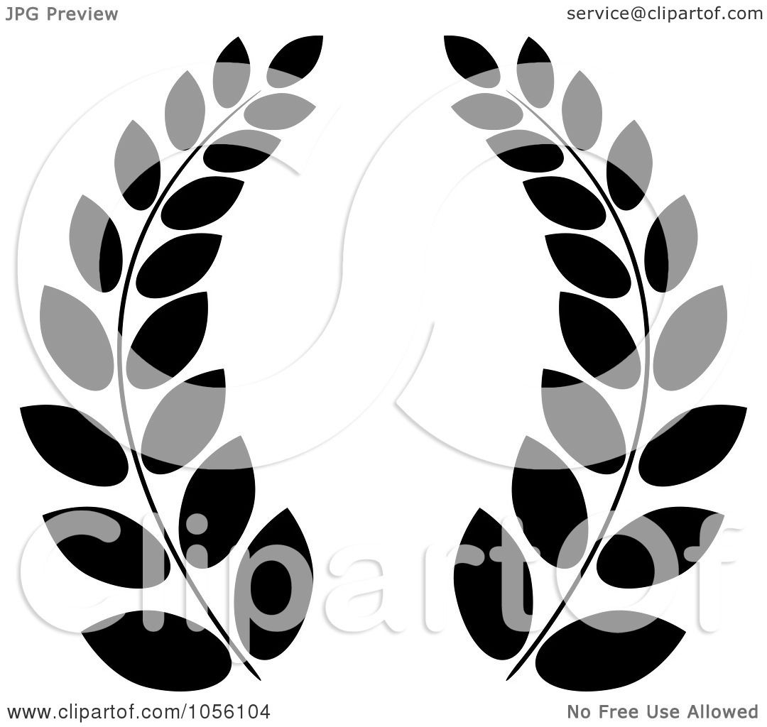 royalty free vector clip art illustration of a black and white greek rh clipartof com clipart olive branch clipart olive branch