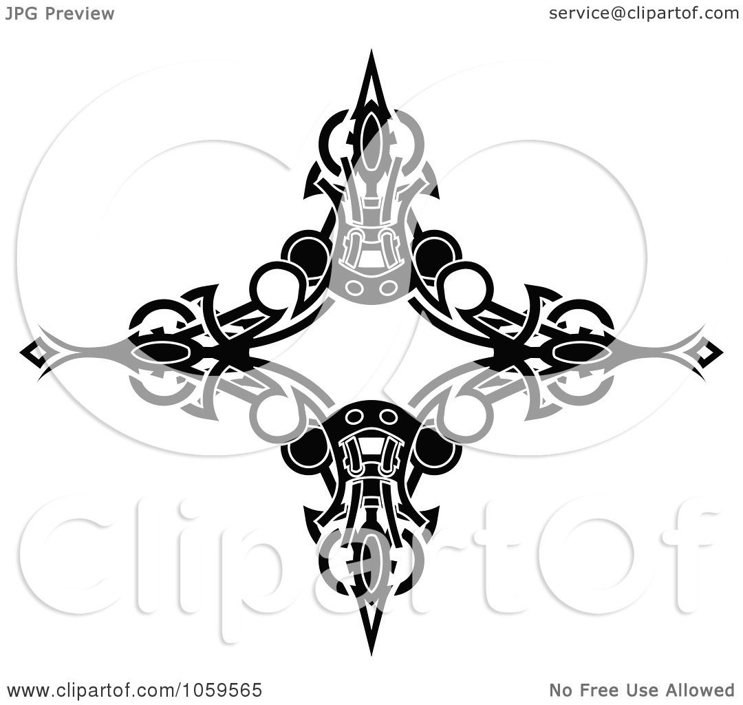 Royalty-Free Vector Clip Art Illustration of a Black And ... Tattoo Artist Clipart