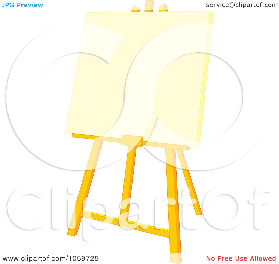 ... Art Supplies Clipart , Artist Painting Easel , Cartoon Artist Easel