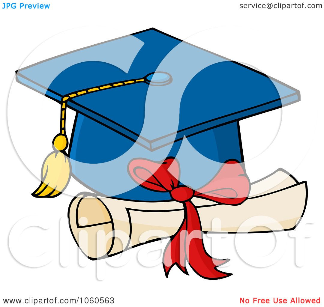 royalty free vector clip art illustration of a blue graduation cap rh clipartof com free cap and diploma clipart free graduation cap and diploma clipart